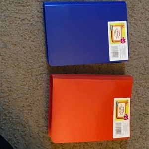 Other - Two mini blue and red index card binder!